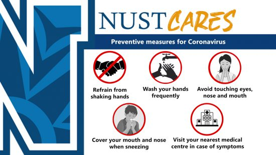 NUST on the Frontlines to fight SARS COV2