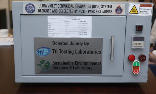 NUST handover Ultraviolet Germicidal Irradiation (UVGI) System to Environment Protection Department, Pakistan, Covid-19, UVGI, Disinfect, NUST Research, Research Activities